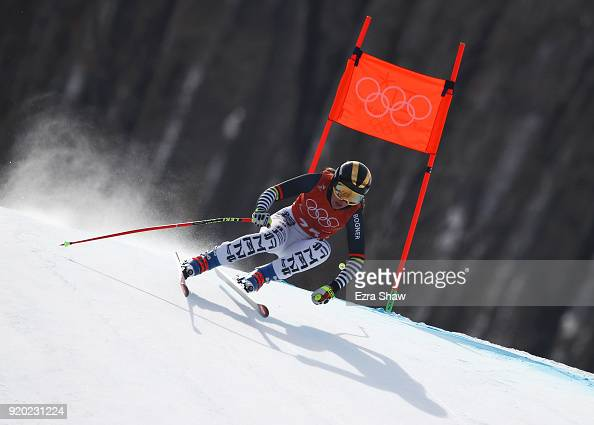 Kira Weidle of Germany makes a run during Alpine Skiing