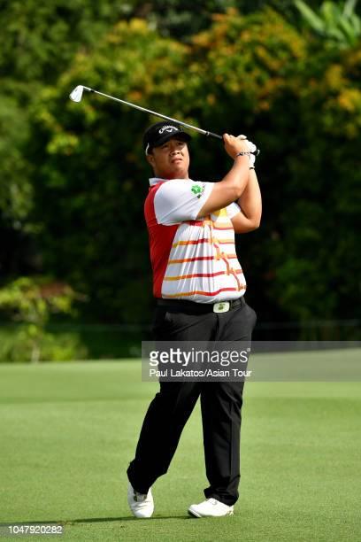 Kiradech Aphibarnrat of Thailand ahead of the CIMB Classic at TPC Kuala Lumpur on October 9 2018 in Kuala Lumpur Malaysia