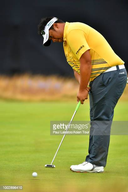 Kiradech Aphibarnrat of Thailand at Carnoustie Golf Club on July 20 2018 in Carnoustie Scotland