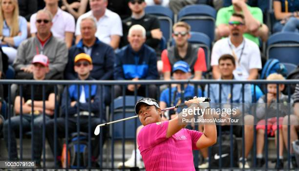 Kiradech Aphibarnrat of Thailand at Carnoustie Golf Club on July 21 2018 in Carnoustie Scotland