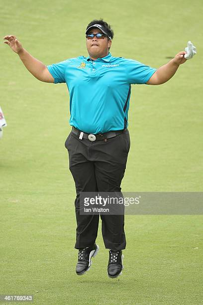 Kiradech Aphibarnrat of Thailand during the 3rd round of the 2014 Volvo Golf Champions at Durban Country Club on January 11 2014 in Durban South...