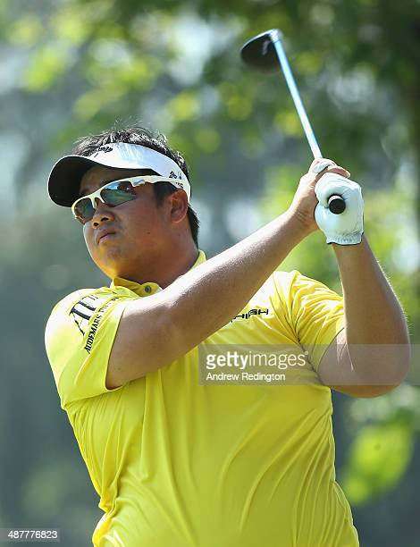 Kiradech Aphibarnrat of Thailand in action on day two of The Championship at Laguna National held at Laguna National Golf Country Club on May 2 2014...