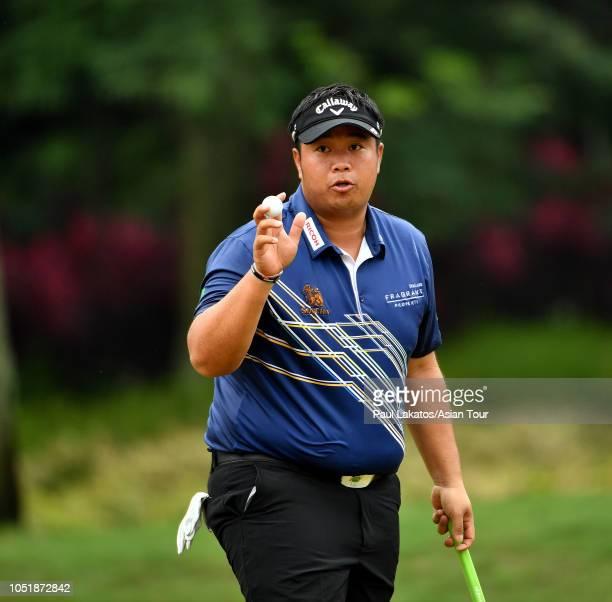 Kiradech Aphibarnrat of Thailand on first round of the CIMB Classic at TPC Kuala Lumpur on October 11 2018 in Kuala Lumpur Malaysia