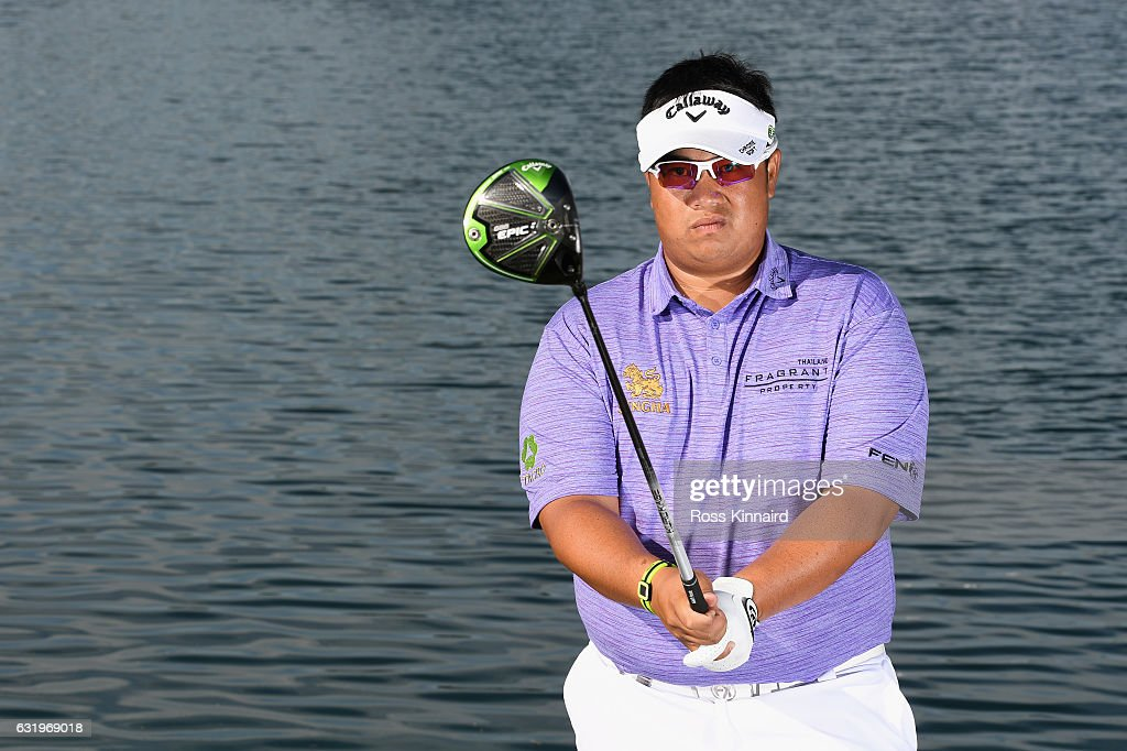 Kiradech Aphibarnrat of Thailand poses for a picture during the pro-am event prior to the Abu Dhabi HSBC Championship at Abu Dhabi Golf Club on January 18, 2017 in Abu Dhabi, United Arab Emirates.