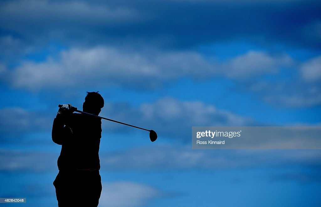 Kiradech Aphibarrnrat of Thaoland on the 6th tee during his match against Michael Hoey of Northern Ireland in the Quater Final of the Saltire Energy Paul Lawrie Matchplay at Murcar Links Golf Course on August 1, 2015 in Aberdeen, Scotland.