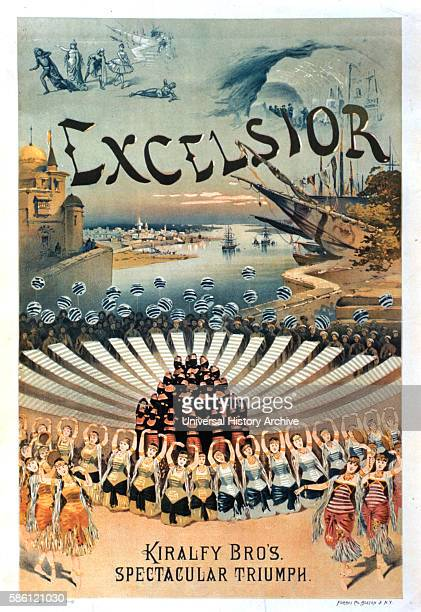 Kiralfy Brothers' Spectacular Triumph Excelsior Poster circa 1883