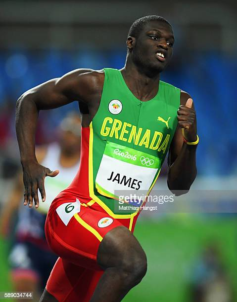 Kirani James of Grenada compete during the Men's 400m Round 1 on Day 7 of the Rio 2016 Olympic Games at the Olympic Stadium on August 12 2016 in Rio...