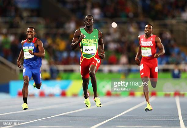 Kirani James of Grenada competes in the Men's 400m Semi Final on Day 8 of the Rio 2016 Olympic Games at the Olympic Stadium on August 13 2016 in Rio...