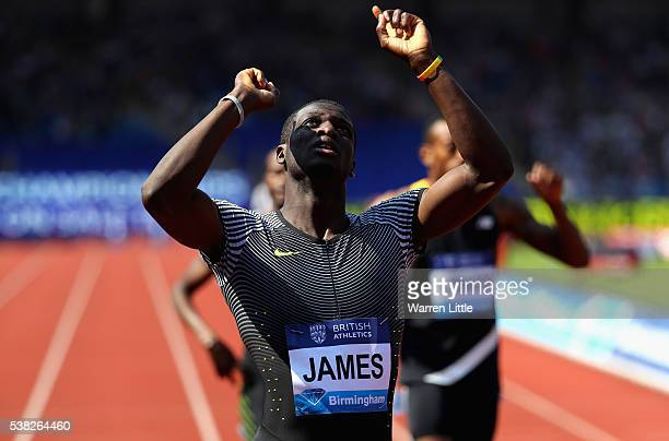 Kirani James of Grenada wins the Men's 400m Final during the Birmingham Diamond League meet at Alexander Stadium on June 5 2016 in Birmingham England