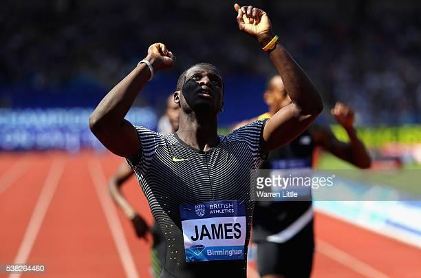 Kirani James of Grenada wins the Men's 400m Final during the Birmingham Diamond League meet at Alexander Stadium on June 5 2016 in Birmingham England