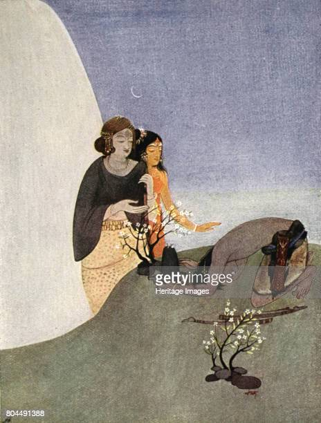 KiratArjuna 1913 A scene from the Hindu epic the Mahabharata Illustration from Myths of the Hindus and Buddhists by Sister Nivedita and Ananda...