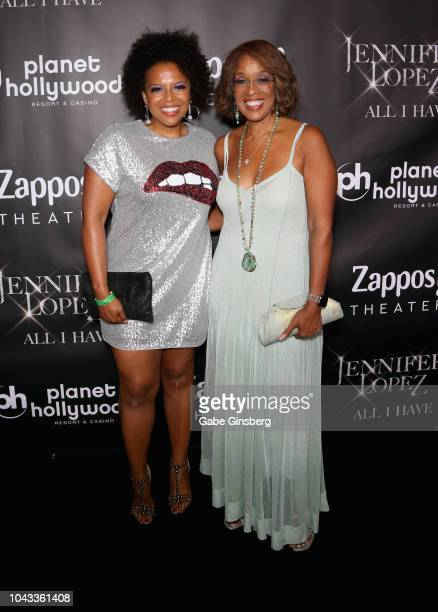 Kirby Bumpus and her mother television personality Gayle King attends the after party for the finale of the JENNIFER LOPEZ ALL I HAVE residency at MR...