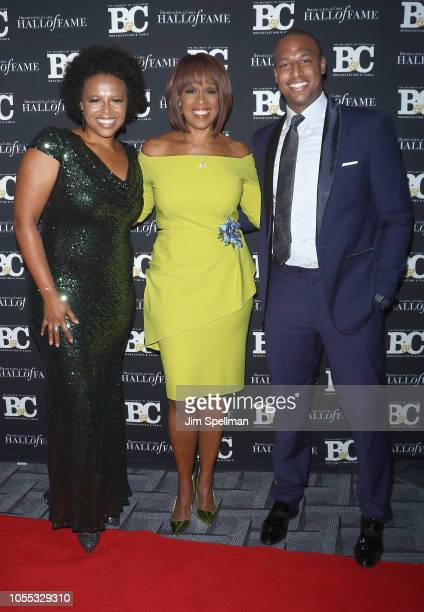 Kirby Bumpus journalist Gayle King and William Bumpus Jr attend the 28th Annual Broadcasting and Cable Hall of Fame Awards at The Ziegfeld Ballroom...