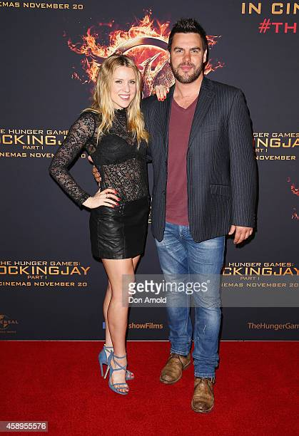 Kirby Burgess and Ben Mingay arrive at The Hunger Games Mockingjay Part 1 Sydney Premiere at Event Cinemas George Street on November 14 2014 in...