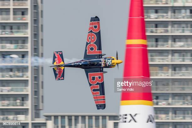 Kirby Chambliss of the United States competes during the finals at the third round of the Red Bull Air Race World Championship on May 27 2018 in...