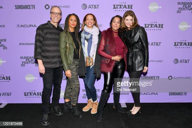 """Kirby Dick, Sil Lai Abrams, Drew Dixon, Sheri Hines, and Amy Ziering attend the 2020 Sundance Film Festival - """"On The Record"""" Premiere at The Marc..."""