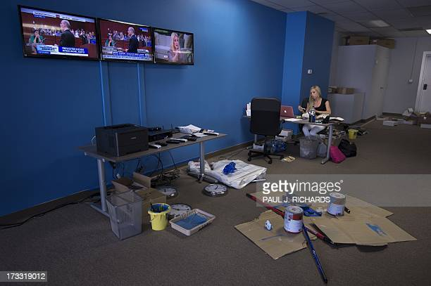 Kirby Hoag works at the Ready For Hillary Super PAC offices on behalf of undeclared US Presidential candidate and former US Secretary of State...