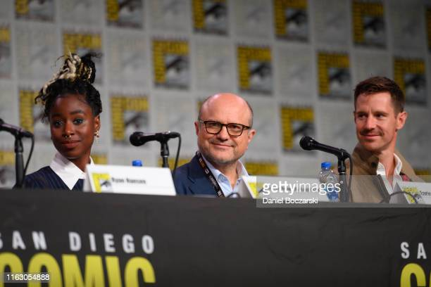 """Kirby Howell-Baptiste, Enrico Colantoni and Jason Dohring attend Hulu's """"Veronica Mars"""" revival panel and world premiere during 2019 Comic-Con..."""