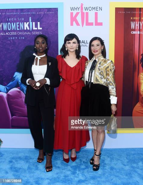 """Kirby Howell-Baptiste, Ginnifer Goodwin and Lucy Liu arrive at the LA Premiere of CBS All Access' """"Why Women Kill"""" at the Wallis Annenberg Center for..."""