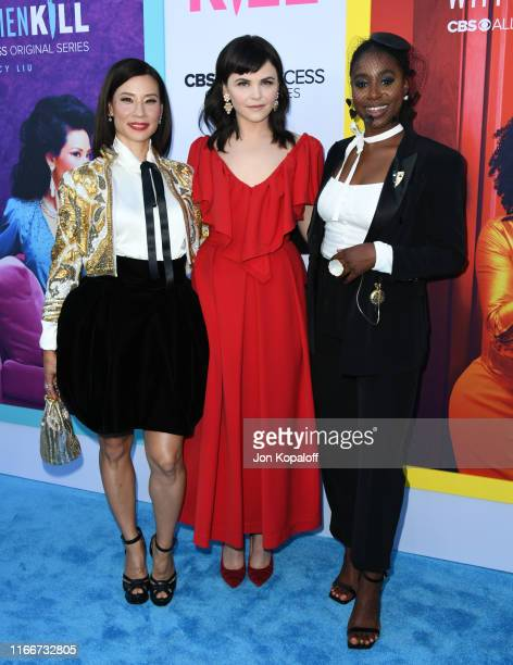 """Kirby Howell-Baptiste, Ginnifer Goodwin and Lucy Liu attend the LA Premiere Of CBS All Access' """"Why Women Kill"""" at Wallis Annenberg Center for the..."""