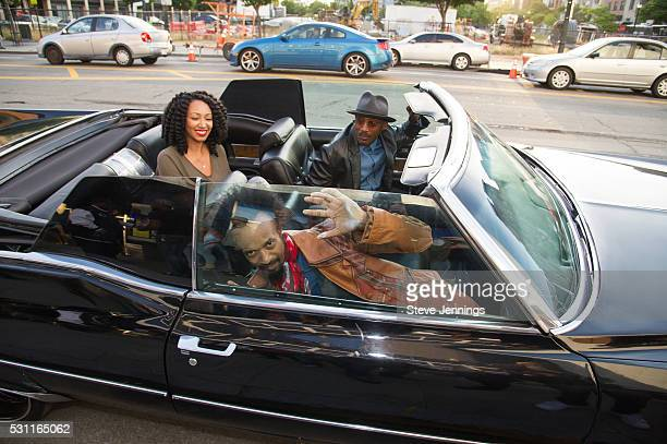 Kirby Maurier Fantastic Negrito and D'Wayne Wiggins pose at the GRAMMY Pro Songwriters Summit at The Uptown on May 12 2016 in Oakland California