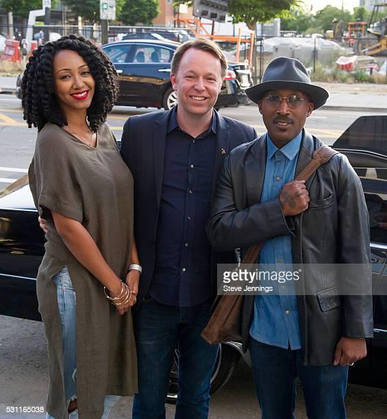 Kirby Maurier San Francisco GRAMMY Chapter Executive Director Michael Winger and D'Wayne Wiggins pose at the GRAMMY Pro Songwriters Summit at The...
