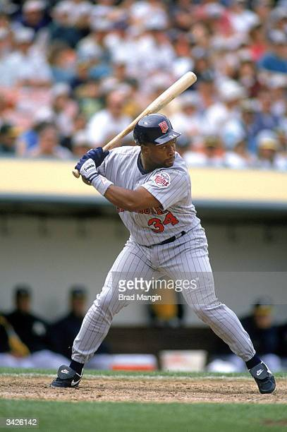 Kirby Puckett of the Minnesota Twins at bat during a game circa the 198495 season