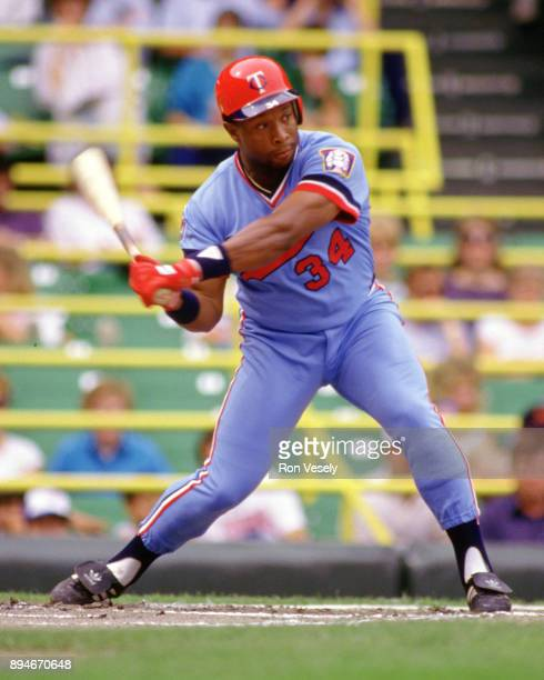 Kirby Puckett of the Minnesota Twins bats during an MLB game versus the Chicago White Sox at Comiskey Park in Chicago Illinois