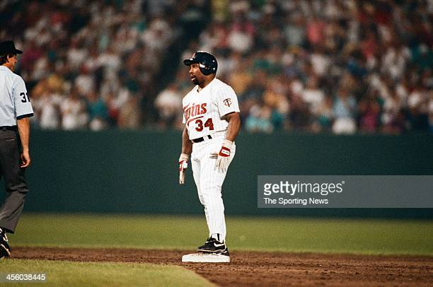 Kirby Puckett of the Minnesota Twins during the 1993 AllStar Game on July 13 1993 at Oriole Park at Camden Yards in Baltimore Maryland