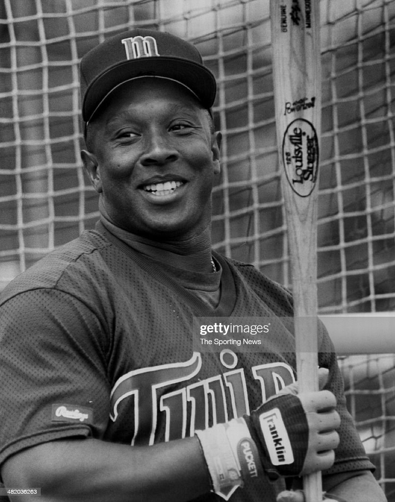 Kirby Puckett of the Minnesota Twins laughs circa 1980s.