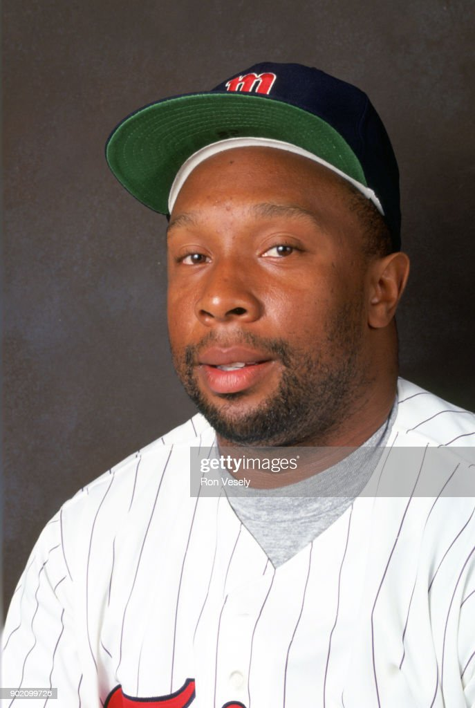 Kirby Puckett of the Minnesota Twins poses for a photo prior to a major league baseball spring training game in Ft. Myers, Florida during the 1992 season.