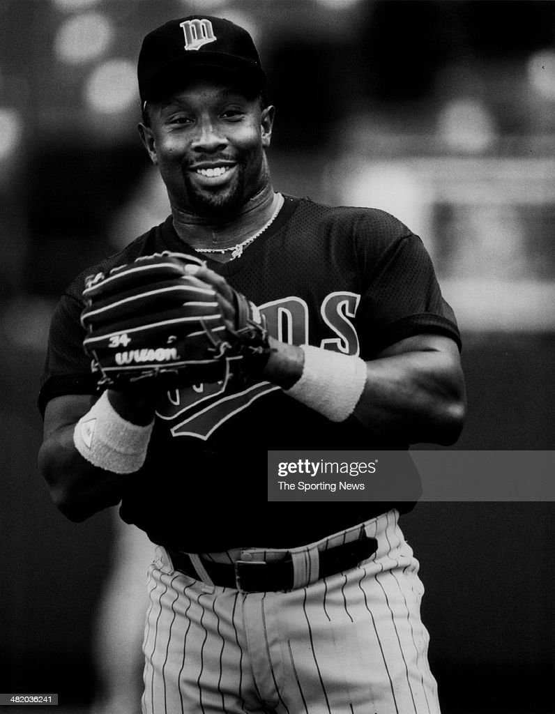 Kirby Puckett of the Minnesota Twins smiles circa 1980s.