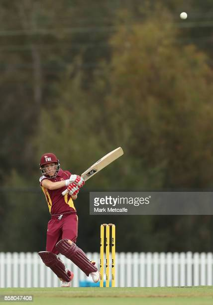 Kirby Short of Queensland bats during the WNCL match between New South Wales and Queensland at Blacktown International Sportspark on October 6 2017...