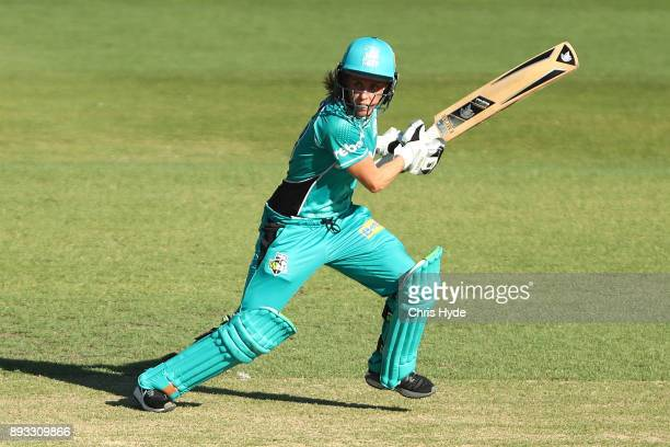 Kirby Short of the Heat bats during the Women's Big Bash League match between the Brisbane Heat and the Perth Scorchers at Allan Border Field on...
