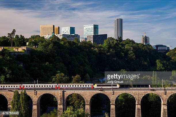 kirchberg plateau - luxembourg benelux stock pictures, royalty-free photos & images