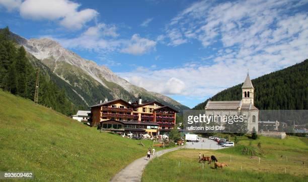 Kirche Sulden ist ein Bergdorf mit etwa 400 Einwohnern im Suldental im westlichen Teil Südtirols Es gehoert zur Gemeinde Stilfs liegt auf 1900...