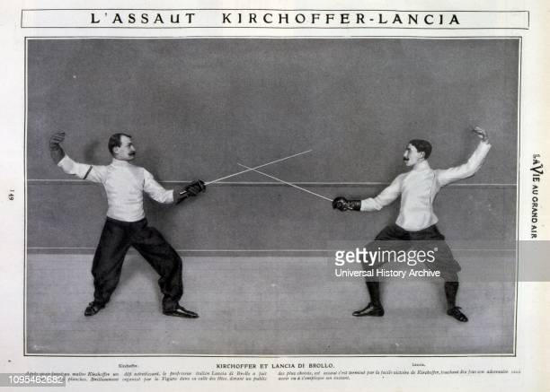 Kirchhoffer versus. Lancia di Brollo, in Paris 1905. Alphonse Kirchhoffer , French fencer who competed in the late 19th century and early 20th...