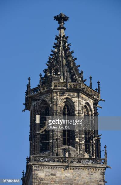 Kirchturm Magdeburger Dom Am Dom Magdeburg SachsenAnhalt Deutschland