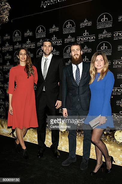 Kirenia Cabrera Felipe Reyes Sergio Rodriguez and Ana Bernal attend the charity 'Chocron Calendar' presentation at the Neptuno Palace on December 9...