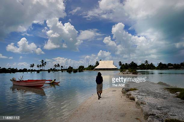 Kiribati Islands Climate Change The village of Tebunginako on the island of Abaiang had to be relocated because of rising seas and erosion This...