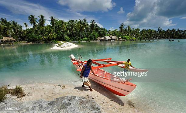 Kiribati Islands Climate Change The village of Tebunginako on the island of Abaiang has been relocated because of rising seas and erosion Locals...
