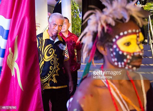 Kiribati President Anote Tong arrives for the official opening of the 46th Pacific Islands Forum in Port Moresby on September 8 2015 The 16nation...