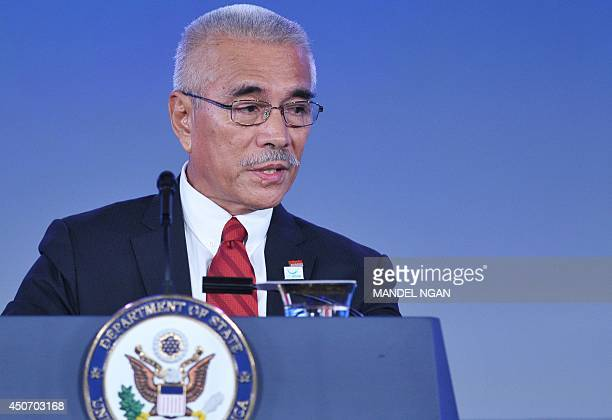 Kiribati President Anote Tong speaks during the opening session of Our Ocean conference at the State Department on June 16 2014 in Washington DC At...