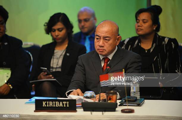 Kiribati's acting Foreign Minister Waysang KumKee attends the Pacific Islands Forum Foreign Ministers Meeting in Sydney on July 10 2015...