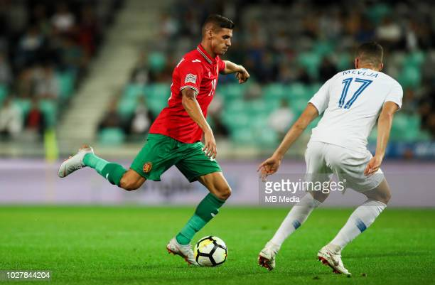 Kiril Despodov of Bulgaria in action during football match between National Teams of Slovenia and Bulgaria in Final Tournament of UEFA Nations League...