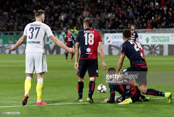 Kiril Despodov of Cagliari is fouled during the Serie A match between Cagliari and FC Internazionale at Sardegna Arena on March 1 2019 in Cagliari...