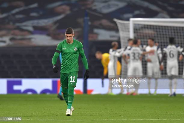 Kiril DESPODOV of Ludogorets looks dejected during the UEFA Europa League Group J stage match between Tottenham Hotspur and PFC Ludogorets Razgrad at...