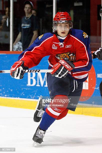 Kirill Kabanov of the Moncton Wildcats skates during the QMJHL game against the Montreal Juniors at the Verdun Auditorium Centre on October 21, 2009...