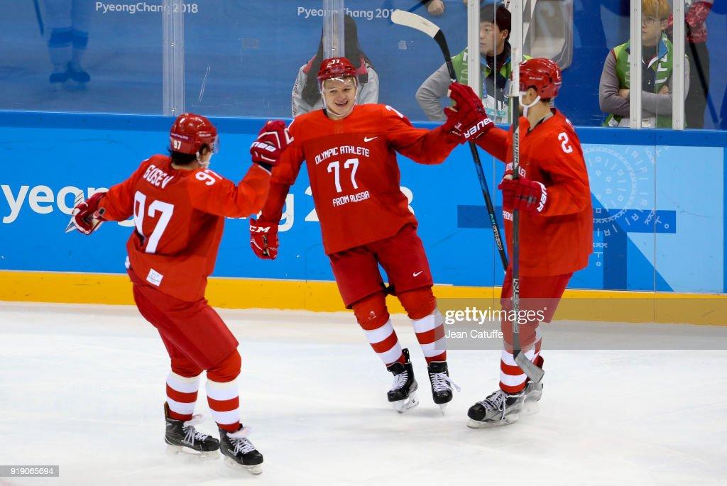 Ice Hockey - Winter Olympics Day 7 - OAR v Slovenia : News Photo