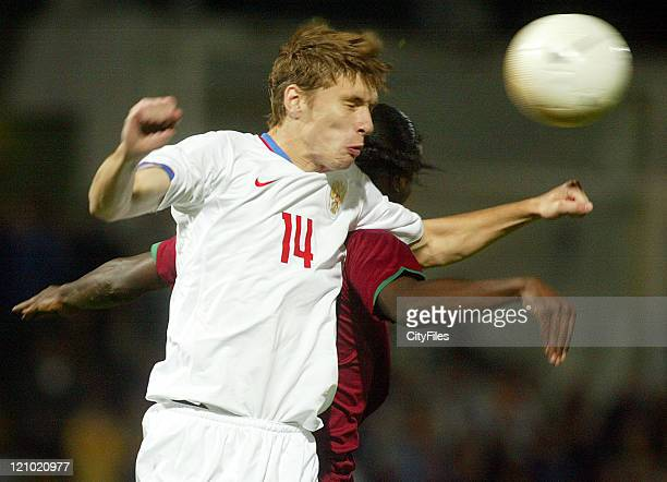 Kirill Nababkin during the Under 21 Championship Playoffs between Portugal and Russia in Porto Portugal on October 10 2006